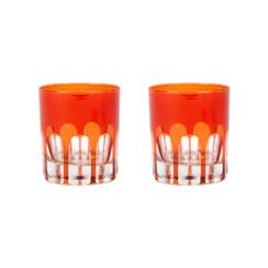 Rialto Glass Old Fashion Set/2, Lolita