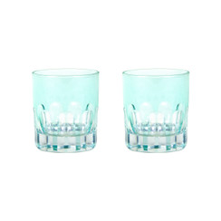 Rialto Glass Old Fashion Set/2, Menthe