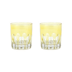 Rialto Glass Old Fashion Set/2, Limoncello