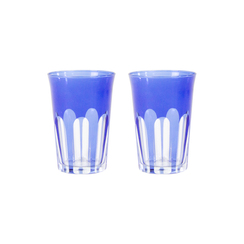 Rialto Glass Tumbler Set/2, Moon Glow