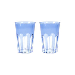 Rialto Glass Tumbler Set/2, Thistle