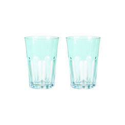 Rialto Glass Tumbler Set/2, Menthe