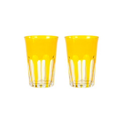 Rialto Glass Tumbler Set/2, Ginger