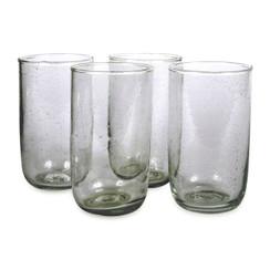 Tall Seeded Glasses, Deep Sage