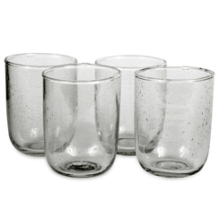Short Seeded Glasses, Deep Sage