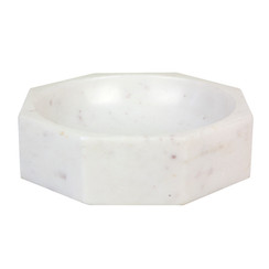 MARBLE MODERNIST OCTANGULAR BOWL, LARGE
