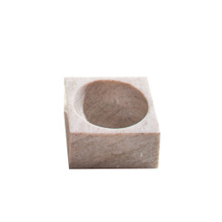 BEIGE MARBLE MODERNIST BOWL, SMALL