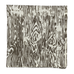 Faux Bois, Pewter, Set of 4