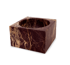 RED MARBLE MODERNIST BOWL, LARGE