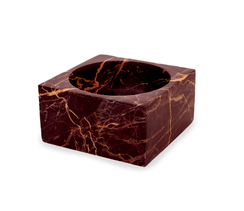 RED MARBLE MODERNIST BOWL, MEDIUM
