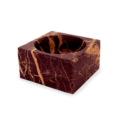 RED MARBLE MODERNIST BOWL, SMALL