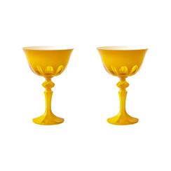 Rialto Glass Coupe Set/2, Saffron