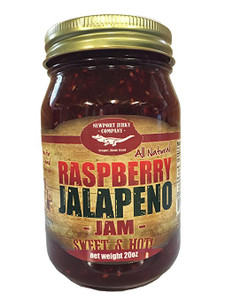 Gourmet Raspberry Jalapeno Jam Handcrafted Small Batch (FAT FREE & All Natural)