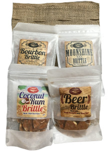 Award Winning Alcohol Infused Gourmet Peanut Brittle 4 Pack Sampler