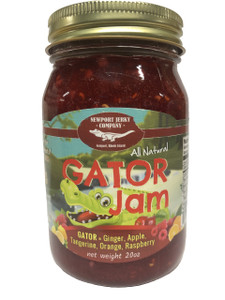 Newport Jerky Company GATOR Jam. Ginger, Apple, Tangerine, Orange, Raspberry (All Natural, Fat Free, Gluten Free)