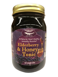 Newport Jerky Company Elderberry & Honey Tonic. All Natural Immunity Booster. (44 Servings per Jar)