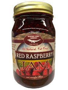 Newport Jerky Company Red Raspberry Jam (All Natural, Fat Free, Gluten Free)