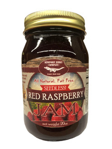 Newport Jerky Company Seedless Red Raspberry Jam ( All Natural, Fat Free, Gluten Free)