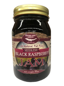 Newport Jerky Company Seedless Black Raspberry Jam ( All Natural, Fat Free, Gluten Free)
