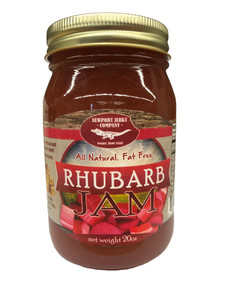 Newport Jerky Company Rhubarb Jam ( All Natural, Fat Free, Gluten Free)