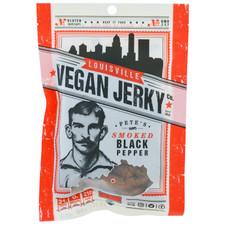 Louisville Vegan Jerky Company Bourbon Smoked Black Pepper Jerky
