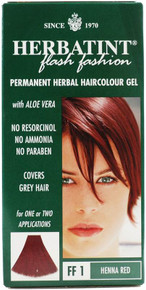 Herbatint FF1 Flash Fashion Henna Red Permanent Herbal Hair Colour Gel 135ml