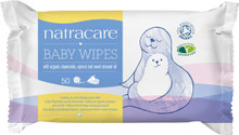 Natracare Organic Cotton Baby Wipes - 50 Wipes