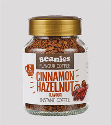 Beanies Coffee Cinnamon & Hazelnut Flavour Instant Coffee - 50g