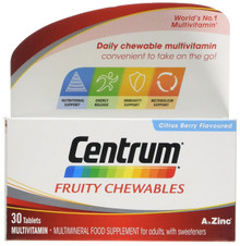 Centrum Fruity Chewables Multivitamin & Mineral - 30 Tablets
