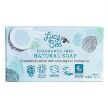 Lucy Bee Fragrance Free Natural Soap - 150g