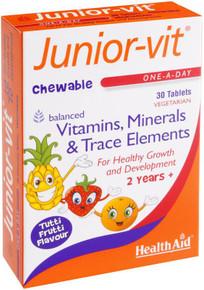 HealthAid Junior-Vit Chewable Tutti-Fruity - 30 Tablets