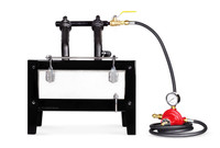 NC Whisper Deluxe farrier forge comes with hose, gauge, and regulator