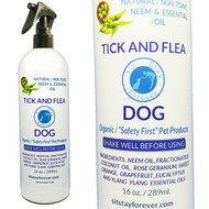Organic Neem Oil Dog Tick and Flea Spray 16 oz.