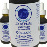 100% Pure Unrefined Cold Press Hemp Oil Supplement for Dogs & Cats