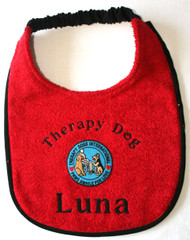 Therapy Dog with Patch bib