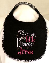 Little Black Dress Dog Drool Bib Special Order