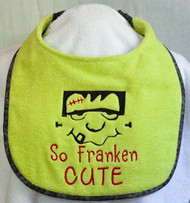 Franken Cute Dog Drool Bib