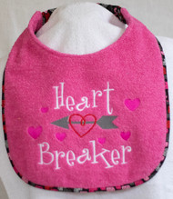 Heart Breaker Dog Drool Bib Pink
