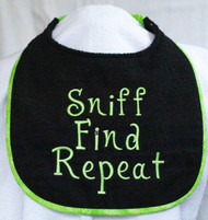 Sniff Find Repeat Dog Drool Bib Special order