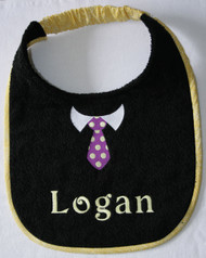Tie Drool Bib with Optional Name Choice