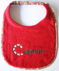 Candy Cane Personalized Bib
