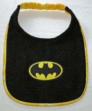 Black terry drool bib
