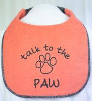 Large Talk to the Paw Drool Bib