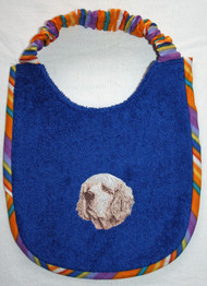 royal blue terry dog drool bib