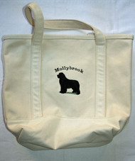 Tote with breed and kennel name