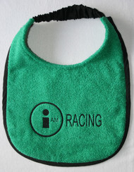 spearmint green terry dog drool bib