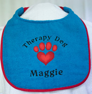 Personalized Therapy Dog Drool Bib