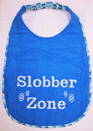 In Stock Super Sized Turquoise Terry Slobber Zone Dog Drool Bib