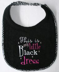 Little Black Dress Dog Drool Bib