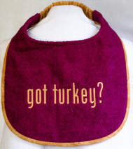 Got Turkey? Dog Drool Bib Madrid Rose